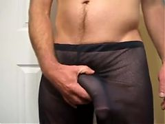 NICE CUM IN MESH SHORTS^4:14