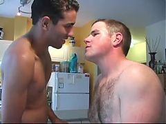 Eager hairy man fucked in the kitchen^4:58