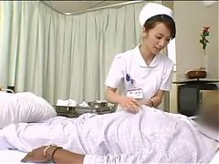 Asian nurses drain black cock^9:31