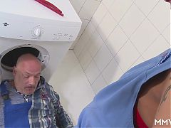 MMV FILMS German Mom draining the plumber^11:53