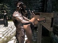 Elisif nude and helpless in Skyrim pt8^15:30
